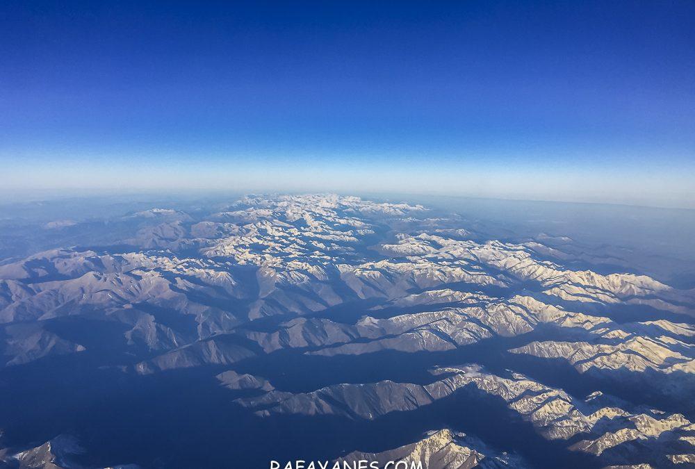 Las primeras nieves en los Pirineos desde el aire