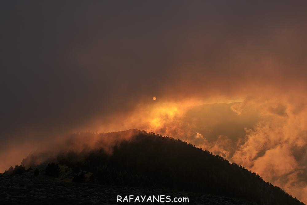 Cielo quemado desde la Gallina Pelada