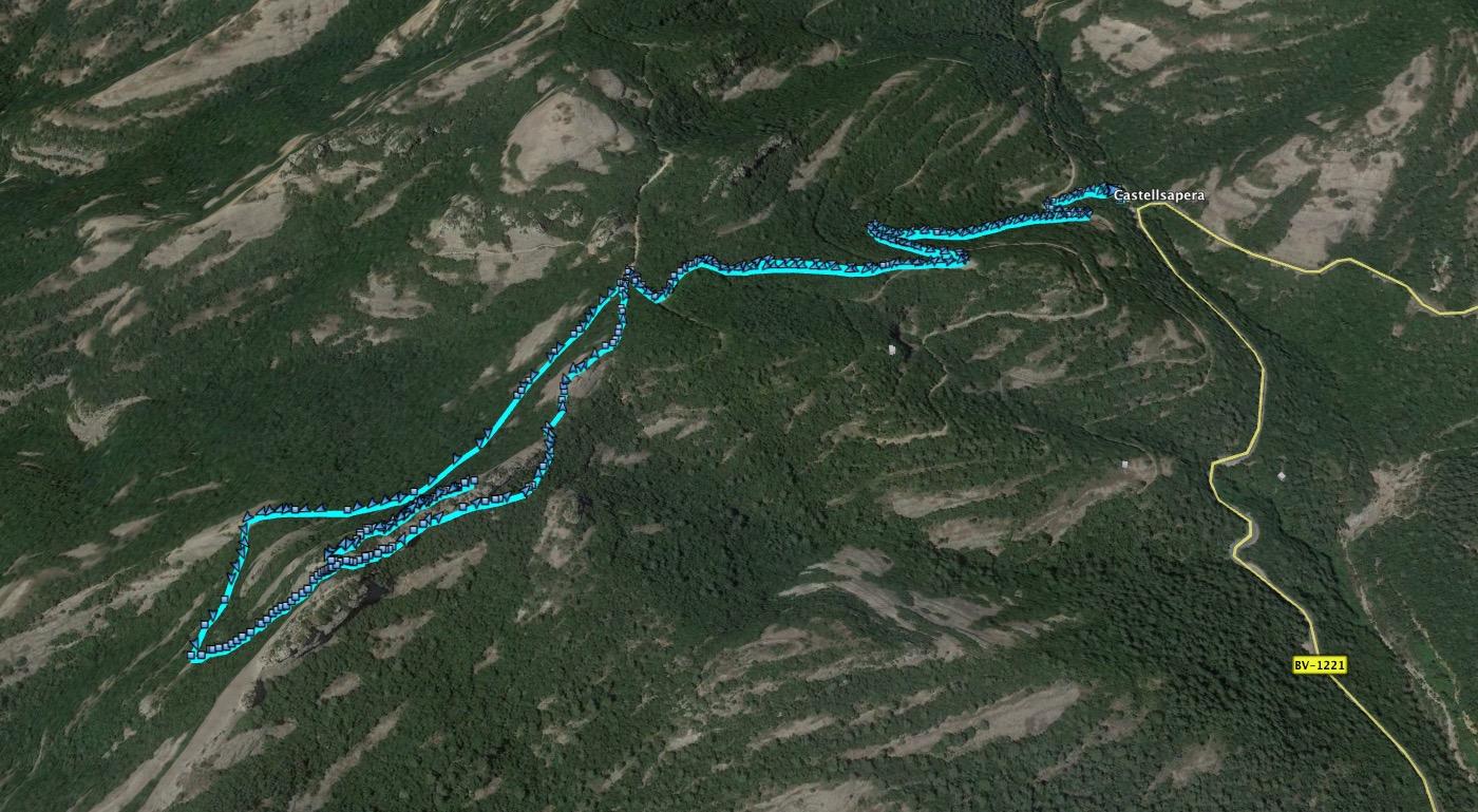 Ruta: Castellsapera ( 939 m.) (Els 100 Cims)